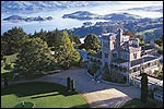 Larnach Castle in Dunedin form above